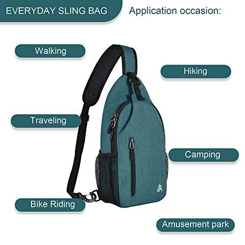 15.7 Inch Sling Backpack Sling Bag Small Backpack for Women Men Kids Travel Hiking Bag (Mint Turquoise)