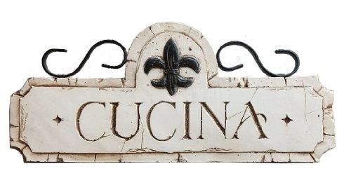 - Piazza Pisano Italian Cucina Kitchen Decor Sign