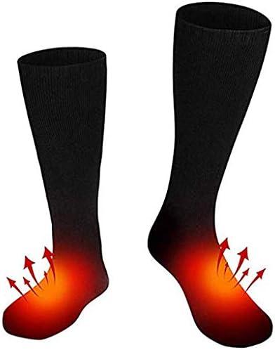 電気靴下 加熱された靴下 冬 二重層の加熱ソックス バッテリーボックス駆動 つま先裏加熱ソックス スポーツアウトドアソックス 電気暖房フットウォーマー 21-30cm