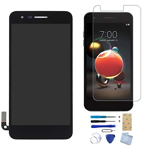(XR MARKET Compatible LG K8 2018 Screen Replacement, LCD Display Touch Screen Digitizer Assembly for LG Aristo 2 X210/LG SP200 Tribute Dynasty/LG K9 2018, with Tools, Screen Protector(Black NO Frame))