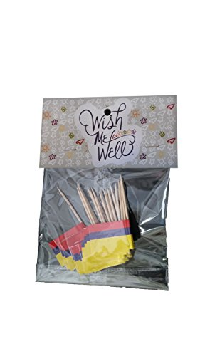 Colombia Toothpick Flag Cupcake Toppers *Set of 20*