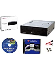 Pioneer BDR-2212 Internal 16x Blu-ray Writer Drive Bundle with Cyberlink Burning Software, 25GB M-DISC BD-R, SATA Cable and Mounting Screws - Burns CD DVD BD DL BDXL Discs