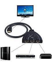 محول HDMI 1080P ثلاثي المنافذ ل3 منافذ لـ HDTV DVD Xbox 360 3Port