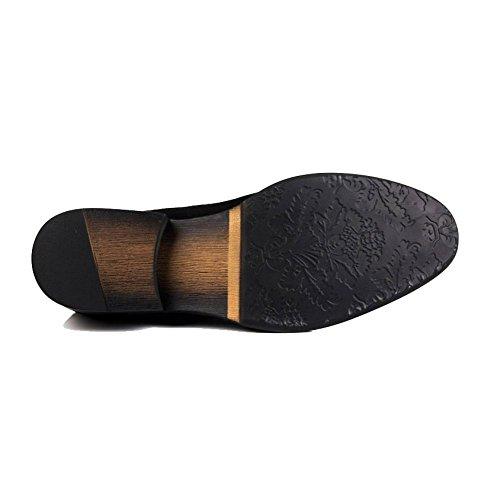 Punta A Inghilterra Uomo Versione Eleganti Da Ycgcm Affari Black In Coreana Europea Scarpe Pelle HYqaC0x