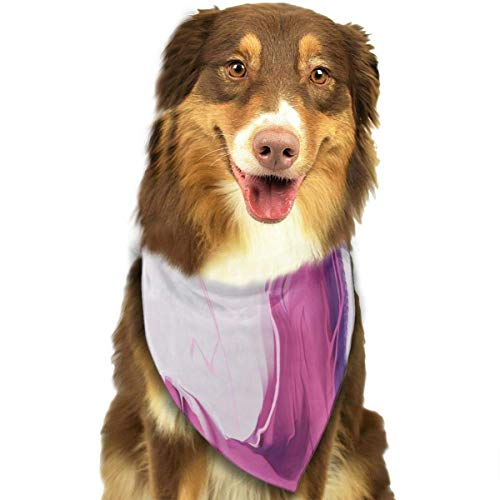Seahorse Sk Customized Girl in A Lavender Dress Classic Pet Dog Scarf Washable Adjustable Triangle Pet Scarf Bow, Suitable for Small and Medium Pets