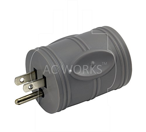 AC WORKS [EV515L630] EVSE Upgrade Electric Vehicle Charging Adapter 15Amp Household Plug to L6-30R Female Connector by AC WORKS (Image #2)
