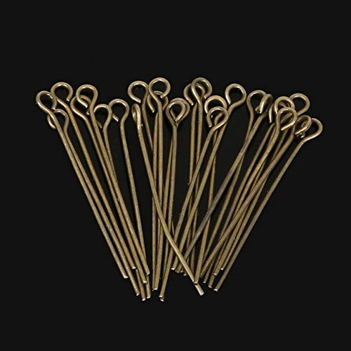 Kamas Hot- 380pcs/lot Gold/Rhodium/Antique Bronze Plated Eye Pins Jewelry Findings 30mm - (Color: Antique Bronze Plate)