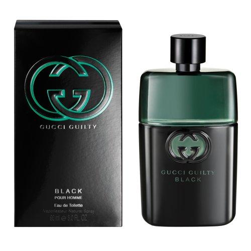 Gucci Guilty Black Pour homme Eau De Toilette Spray For Men 3 OZ./ 90 ml. (Flora By Gucci Eau De Toilette 30ml)