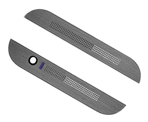 Foir Top & Bottom Front Cover Bezel Housing Compatible HTC One M8 831C Gunmetal Gray ~ USA ()