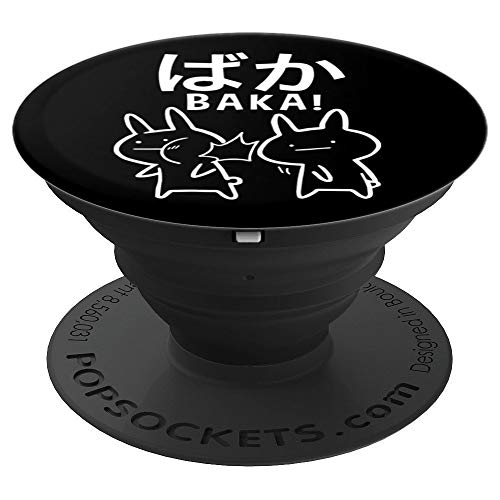 (Funny Anime Baka Rabbit Slap Gift Japanese Baka Fool - PopSockets Grip and Stand for Phones and Tablets)