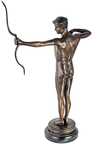 Multicolored Design Toscano Teucer Quality Lost Wax Bronze Statue