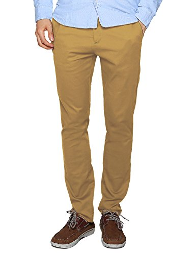 (Match Men's Slim Tapered Stretchy Casual Pant (32, 8114 Khaki))