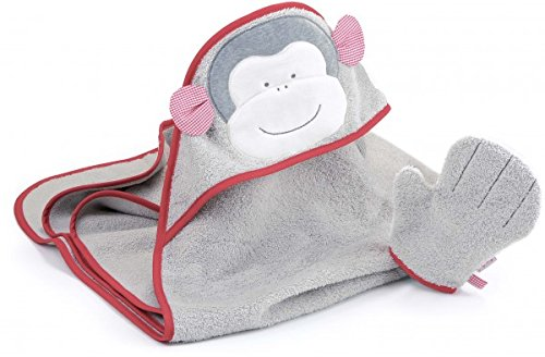 Kathe Kruse Soft Terrycloth Monkey Carlo Bath Wrap with Mitt