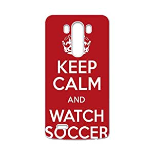 Keep Calm And Watch Soccer Fahionable And Popular High Quality Back Case Cover For LG G3