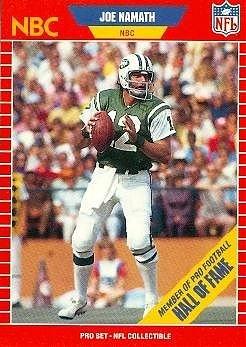 4bd852ec Amazon.com : 1989 PRO SET Announcer Collectible # 25 JOE NAMATH NBC ...