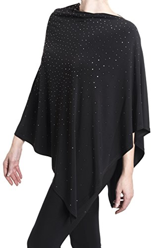 Joseph Ribkoff Black Poncho Cover Up Style 181134 Size L/XL by Joseph Ribkoff
