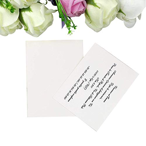 PONATIA 25 Pieces/Lot Blank RSVP Cards with Envelopes/Customizable -