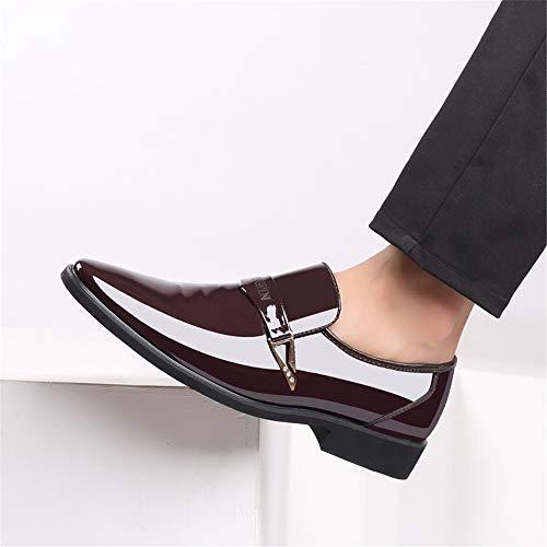 top Oxford Casual De Cuero Hombres Metálicas Transpirables Low Para Marrón Formales Zapatos Lentejuelas Business 8TqpT