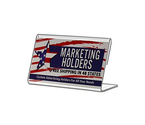 "Marketing Holders 3.5""W x 2""H Slant Back Table Tent Single Business Card Small Signage Holder (Lot of 50) by Marketing Holders"