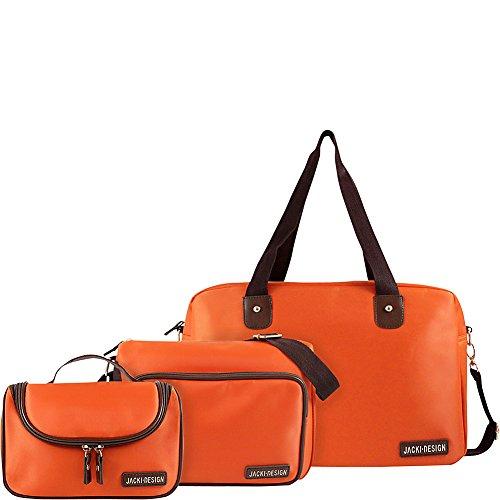 jacki-design-3-piece-duffel-messenger-and-toiletry-travel-set-orange