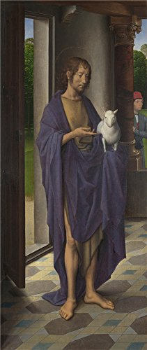 Oil Painting 'Hans Memling Saint John The Baptist (1)', 8 x 19 inch / 20 x 48 cm , on High Definition HD canvas prints is for Gifts And Dining Room, Foyer And Gym Decoration, wall art