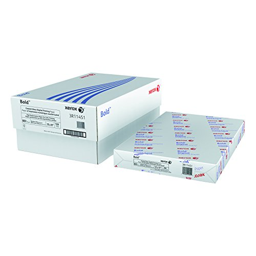 Xerox 3R11451 Bold Coated Gloss Digital Printing Office Paper, 11 x 17, White, 500 Sheets/RM
