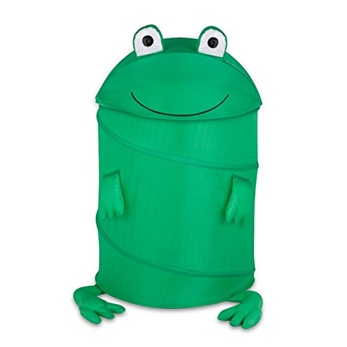 Honey-Can-Do HMP-02058 Kid's Pop-Up Hamper, Frog, ()