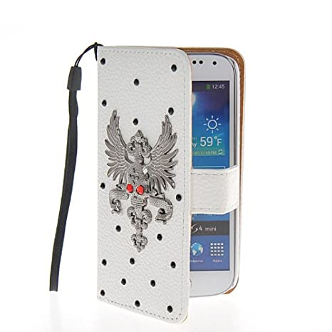 SHOPPINGBOX Brillante Lujo Crystal Bling Diamante Cartera Funda Carcasa Caso Cuero Tapa Flip Case Cover Para Samsung Galaxy S4 Mini I9190: Amazon.es: ...