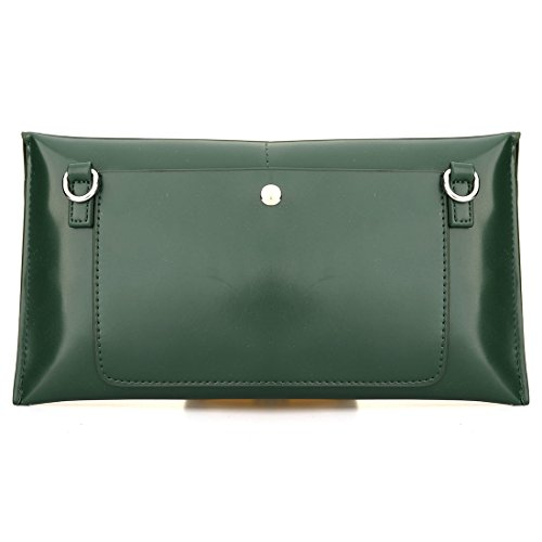 Black Magnetic Handbag Clutch PU EROUGE Wristlet Evening Snap Bag Leather Purse with wRwPqg