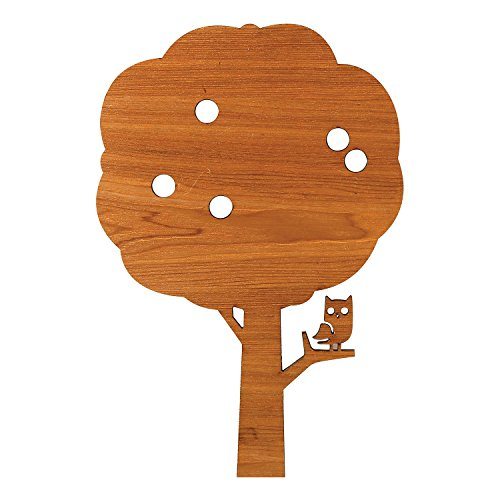Owl in Apple Tree Wall Accent Lamp - LED Lights - Laser Cut MDF Wood