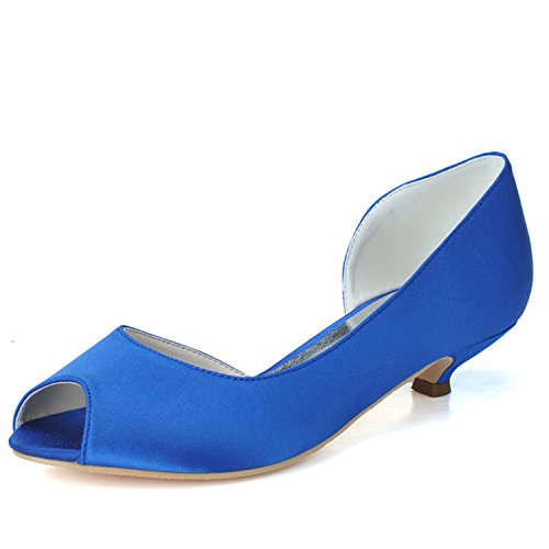 Sarahbridal ,  Damen Peep Toes Blau