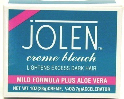 Jolen Creme Bleach, Mild Formula Plus Aloe Vera, 1 oz. (Pack of 3)