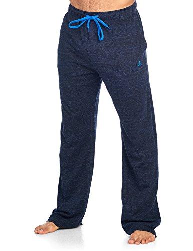 Balanced Tech Men's Jersey Knit Lounge Sleep Pants - Black/Royal Multi Speckle - Large/L by Balanced Tech