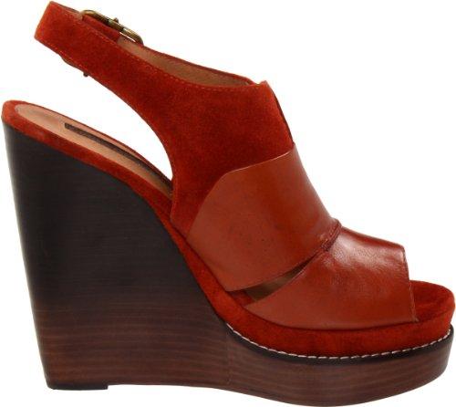 Modern Vintage Liana, Damen Sandalen Rot (Brown rust/brown rust)