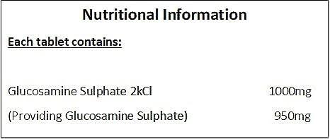 Glucosamina Sulfato 2KCL 1000mg - 360 Pastillas - * MUY BUENO PARA EL DOLOR DE ARTRITIS *: Amazon.es: Salud y cuidado personal