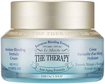 [THEFACESHOP] The Therapy Moisture Blending Formula Cream, Moisturize with French Sea Water and Essential Oils - 50 ml