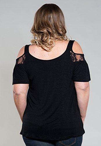 T Dentelle Tops Chic Basic Chemises Shirt Manches Hauts Fashion Simple Noir Courtes Vintage Transparentes Femme Blouse 8SXx7wnqw