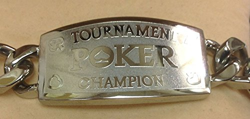 - Silver Tournament Poker Champion Bracelet - Great Prize for Your Tournaments
