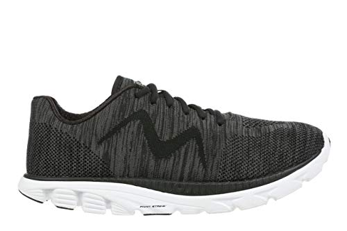 MBT USA Inc Men's Speed Mix Black/Grey Lightweight Running Sneakers 702031-26M Size 12 (Best Running Shoes For Speed 2019)