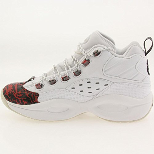 ae0bf9d3110916 V67907 MEN QUESTION MID PROTOTYPE REEBOK SNEAKERS WHITE RED BLACK ...