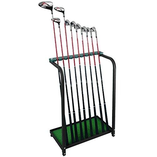 CRESTGOLF Golf Club Organizers Golf Club Display Shelf-----Green, Metal