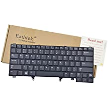 Eathtek Replacement Keyboard with Pointer Non-Backlit for Dell Latitude E6320 E6420 E6330 E6430 E6440 E5420 E5430 series Black US Layout, Compatible with part# C7FHD 0C7FHD