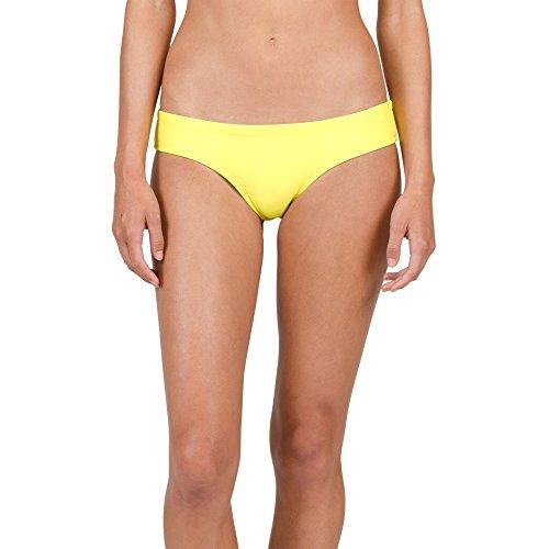26377a56d2d Galleon - Volcom Women's Simply Solid Cheeky Swimsuit Bikini Bottom, Lemon,  XL