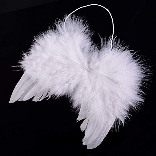 Costumes For - Angel Wings Kids Born Baby Infant Fancy Fairy Feather Costume - Newborn Fairy Halloween Turkey Fairy Black Fabric Headband Pendant Halloween Baby Child Photography Love Ornament