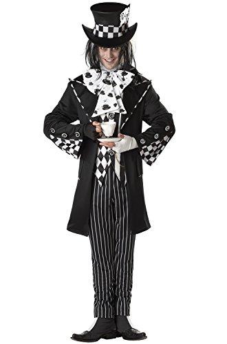 California Costumes Men's Dark Mad Hatter Costume,Multi,X-Large