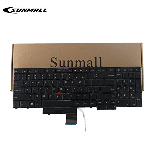 SUNMALL Laptop Keyboard Replacement for ThinkPad Edge E530 E530C E535 E545 Series Laptop 15.6 inch with The Number Keys Black US Layout (6 Month Warrant)