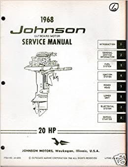 1968 johnson outboard 20 h p service manual manufacturer amazon
