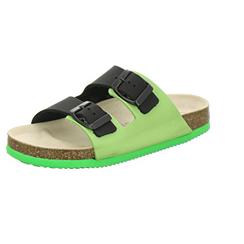 AFS-Schuhe 1100, Sportliche Kinder-Pantoletten, Hochwertiges, Echtes Leder Apfel