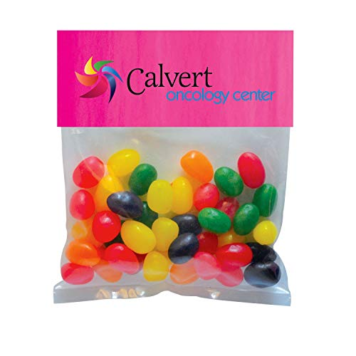 Candy Gift Pack-Jelly Beans with CUSTOMIZED Business Card Magnet in Small Header Pack- BULK Quantities-100, 250, 500 or…