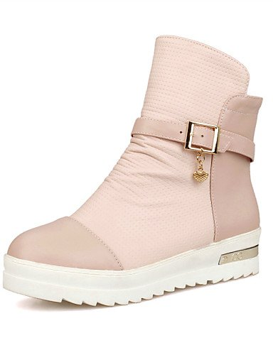 us8 5 us10 Uk8 Uk6 Eu39 Xzz Botas Pink 5 De 5 Zapatos Pink Eu42 Casual Plataforma Cn40 Mujer Punta Redonda 5 Rosa Cn43 Semicuero Blanco rRHr1Z7
